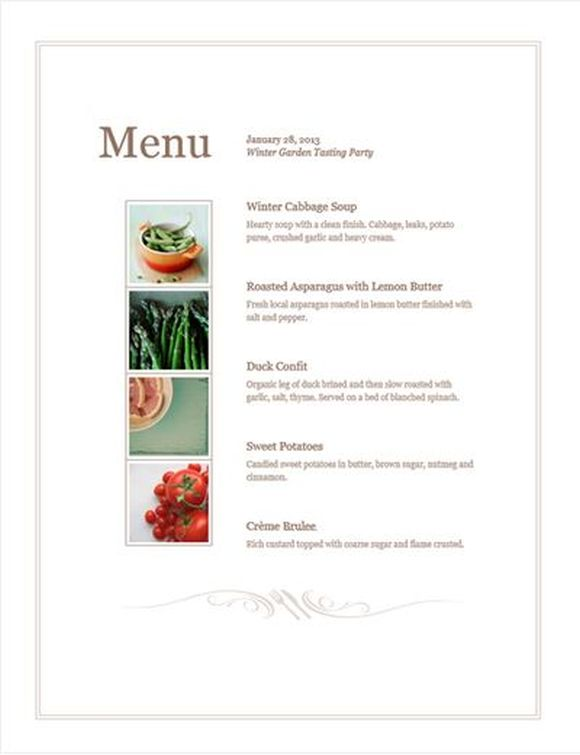Design your own free menu template POS Sector – Catering Menu Template Free