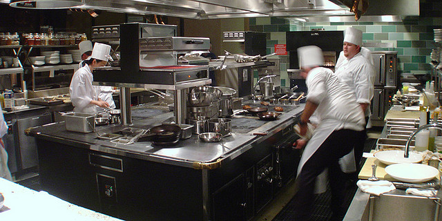 Do you know what a restaurant kitchen consists of?