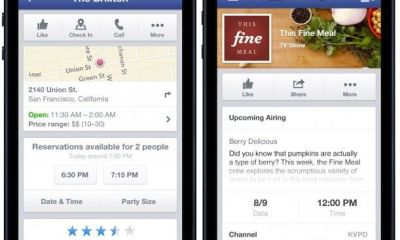 Now You Can Use Facebook Mobile Application For  OpenTable