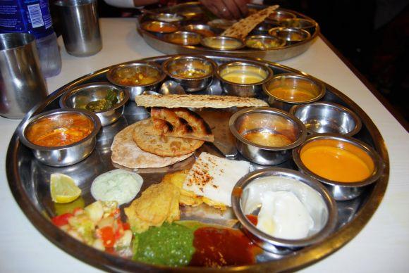 prix fixe menu thali