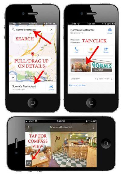 restaurant virtual tour iPhone