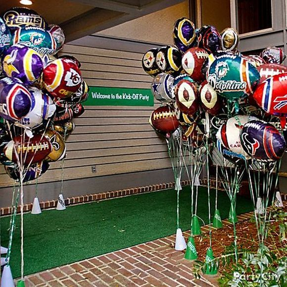 super bowl party ideas for a bar front door decoration