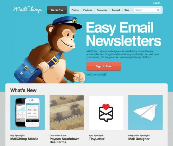 restaurant email marketing mailchimp