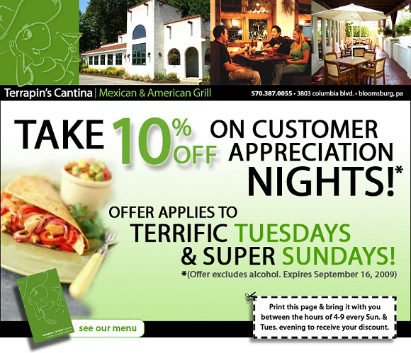 restaurant email marketing promotion offer