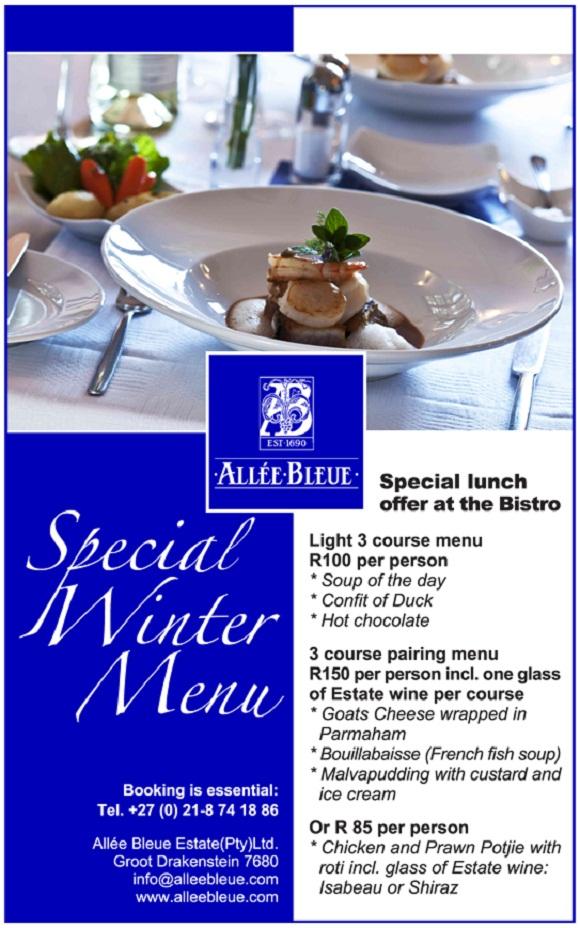 restaurant winter promotions special winter menu