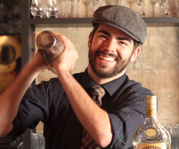 hire a bartender smiling