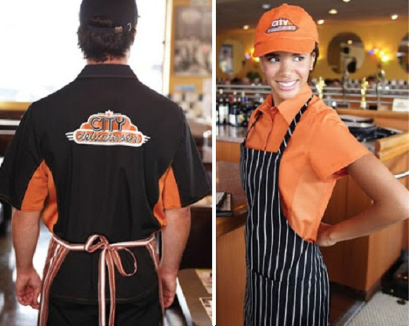 restaurant uniform ideas orange uniforms