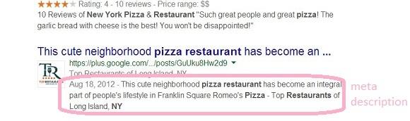 restaurant description