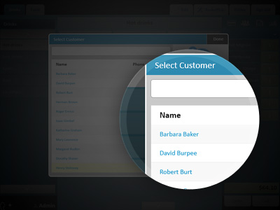 List of defined customers
