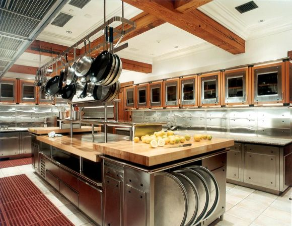 large restaurant kitchen design stainless steel kitchen island