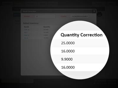 Make corrections of stocks