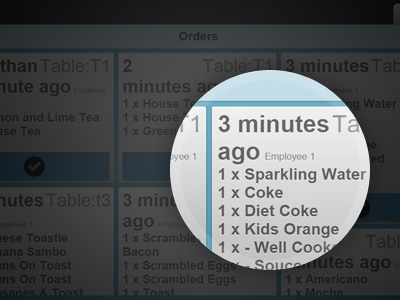 Restaurant Kitchen Order Display restaurant management software with mobile ordering system